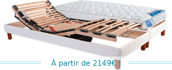 sommier lectrique avec matelas literie du tricastin. Black Bedroom Furniture Sets. Home Design Ideas