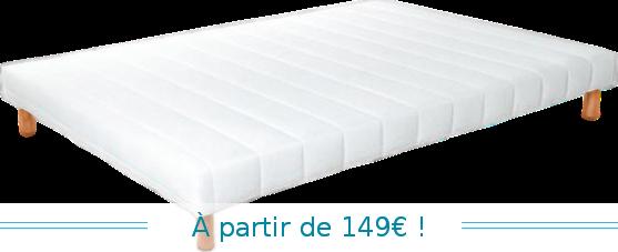 sommier lattes fixes recouvert literie du tricastin. Black Bedroom Furniture Sets. Home Design Ideas